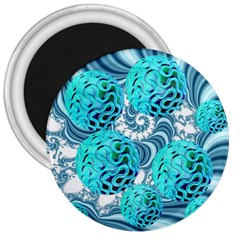 Teal Sea Forest, Abstract Underwater Ocean 3  Button Magnet by DianeClancy