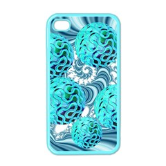 Teal Sea Forest, Abstract Underwater Ocean Apple Iphone 4 Case (color) by DianeClancy