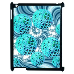 Teal Sea Forest, Abstract Underwater Ocean Apple Ipad 2 Case (black) by DianeClancy