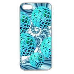 Teal Sea Forest, Abstract Underwater Ocean Apple Seamless Iphone 5 Case (clear) by DianeClancy