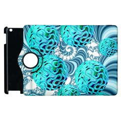 Teal Sea Forest, Abstract Underwater Ocean Apple Ipad 2 Flip 360 Case by DianeClancy