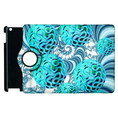 Teal Sea Forest, Abstract Underwater Ocean Apple Ipad 3/4 Flip 360 Case by DianeClancy