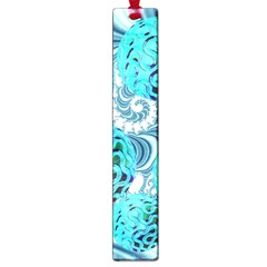 Teal Sea Forest, Abstract Underwater Ocean Large Bookmark by DianeClancy