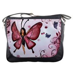 Butterfly Girl Messenger Bag