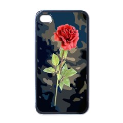 Long Stem Rose Apple Iphone 4 Case (black) by Rbrendes