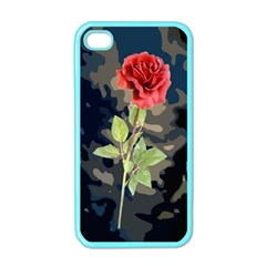 Long Stem Rose Apple Iphone 4 Case (color) by Rbrendes