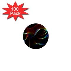 Imagine, Through The Abstract Rainbow Veil 1  Mini Button (100 Pack) by DianeClancy
