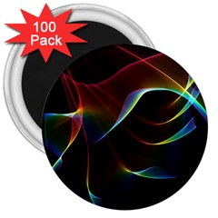 Imagine, Through The Abstract Rainbow Veil 3  Button Magnet (100 Pack) by DianeClancy