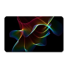 Imagine, Through The Abstract Rainbow Veil Magnet (rectangular) by DianeClancy