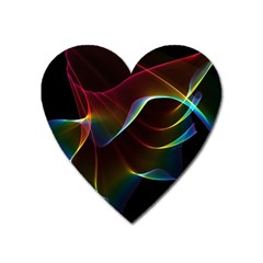 Imagine, Through The Abstract Rainbow Veil Magnet (heart) by DianeClancy