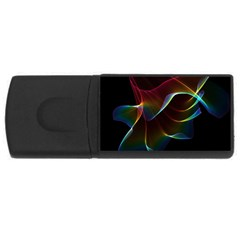 Imagine, Through The Abstract Rainbow Veil 4gb Usb Flash Drive (rectangle) by DianeClancy