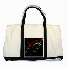 Imagine, Through The Abstract Rainbow Veil Two Toned Tote Bag by DianeClancy