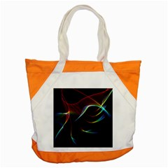 Imagine, Through The Abstract Rainbow Veil Accent Tote Bag by DianeClancy