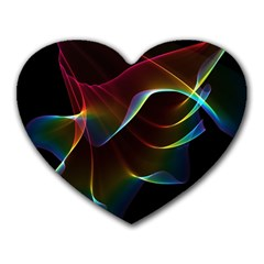 Imagine, Through The Abstract Rainbow Veil Mouse Pad (heart) by DianeClancy