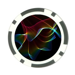 Imagine, Through The Abstract Rainbow Veil Poker Chip by DianeClancy