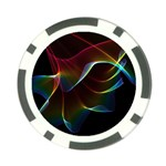 Imagine, Through The Abstract Rainbow Veil Poker Chip (10 Pack) Front