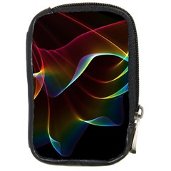 Imagine, Through The Abstract Rainbow Veil Compact Camera Leather Case by DianeClancy