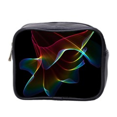 Imagine, Through The Abstract Rainbow Veil Mini Travel Toiletry Bag (two Sides) by DianeClancy