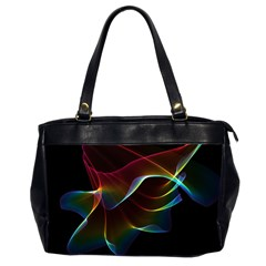 Imagine, Through The Abstract Rainbow Veil Oversize Office Handbag (two Sides) by DianeClancy