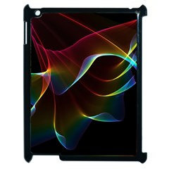 Imagine, Through The Abstract Rainbow Veil Apple Ipad 2 Case (black) by DianeClancy