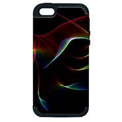 Imagine, Through The Abstract Rainbow Veil Apple Iphone 5 Hardshell Case (pc+silicone) by DianeClancy