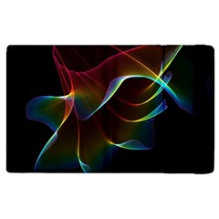 Imagine, Through The Abstract Rainbow Veil Apple Ipad 2 Flip Case by DianeClancy