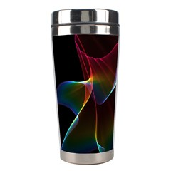 Imagine, Through The Abstract Rainbow Veil Stainless Steel Travel Tumbler