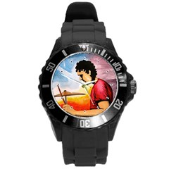 My Music & I Plastic Sport Watch (large) by CaterinaBassano