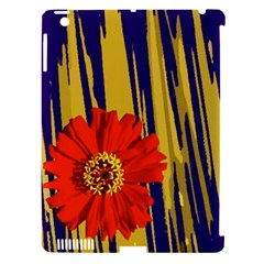 Red Flower Apple Ipad 3/4 Hardshell Case (compatible With Smart Cover)