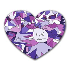 Fms Confusion Mouse Pad (heart) by FunWithFibro