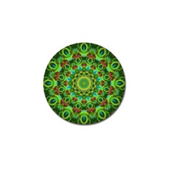 Peacock Feathers Mandala Golf Ball Marker 4 Pack by Zandiepants