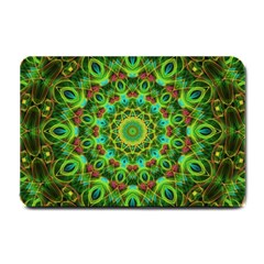 Peacock Feathers Mandala Small Door Mat by Zandiepants