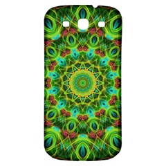 Peacock Feathers Mandala Samsung Galaxy S3 S Iii Classic Hardshell Back Case