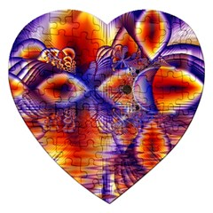 Winter Crystal Palace, Abstract Cosmic Dream Jigsaw Puzzle (heart) by DianeClancy