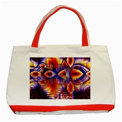 Winter Crystal Palace, Abstract Cosmic Dream Classic Tote Bag (red) by DianeClancy