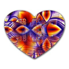 Winter Crystal Palace, Abstract Cosmic Dream Mousepad (heart)