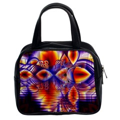 Winter Crystal Palace, Abstract Cosmic Dream Classic Handbag (two Sides) by DianeClancy