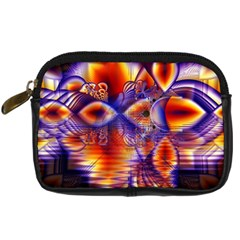 Winter Crystal Palace, Abstract Cosmic Dream Digital Camera Leather Case by DianeClancy