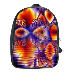 Winter Crystal Palace, Abstract Cosmic Dream School Bag (large) by DianeClancy