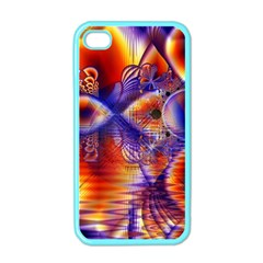 Winter Crystal Palace, Abstract Cosmic Dream Apple Iphone 4 Case (color) by DianeClancy