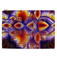 Winter Crystal Palace, Abstract Cosmic Dream Cosmetic Bag (xxl)