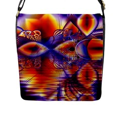 Winter Crystal Palace, Abstract Cosmic Dream Flap Closure Messenger Bag (large) by DianeClancy