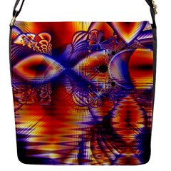 Winter Crystal Palace, Abstract Cosmic Dream Flap Closure Messenger Bag (small) by DianeClancy