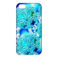 Blue Ice Crystals, Abstract Aqua Azure Cyan Apple Iphone 5c Hardshell Case by DianeClancy