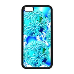 Blue Ice Crystals, Abstract Aqua Azure Cyan Apple Iphone 5c Seamless Case (black)