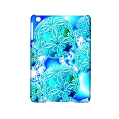 Blue Ice Crystals, Abstract Aqua Azure Cyan Apple Ipad Mini 2 Hardshell Case by DianeClancy
