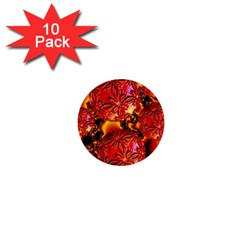 Flame Delights, Abstract Red Orange 1  Mini Button (10 Pack) by DianeClancy