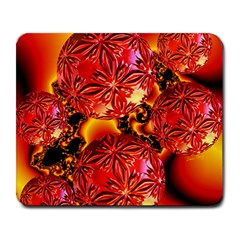 Flame Delights, Abstract Red Orange Large Mouse Pad (rectangle)