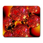 Flame Delights, Abstract Red Orange Large Mouse Pad (Rectangle) Front