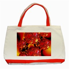 Flame Delights, Abstract Red Orange Classic Tote Bag (red) by DianeClancy